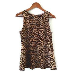 Banana Republic Cheetah Print Peplum Shirt